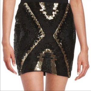 Beaded Black and Gold Mini Skirt!